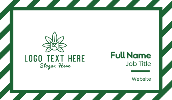 dispensary - Cannabis MS  Business card horizontal design