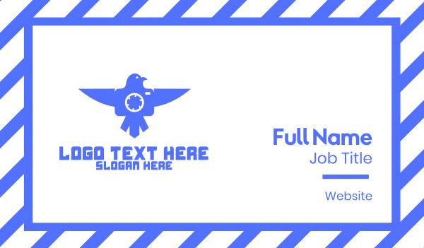 blue drone - Blue Bird Drone Business card horizontal design