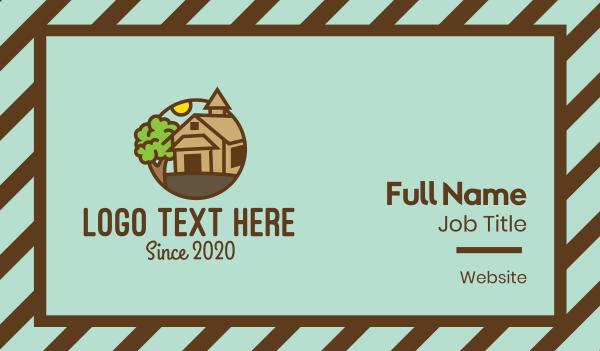 tree - Countryside Farmhouse Business card horizontal design