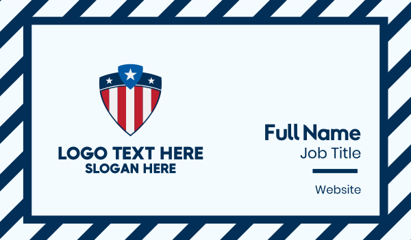 election campaign - Stars & Stripes Shield Business card horizontal design