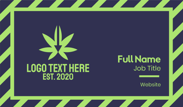 eliquid - Green Cannabis Arrow Business card horizontal design