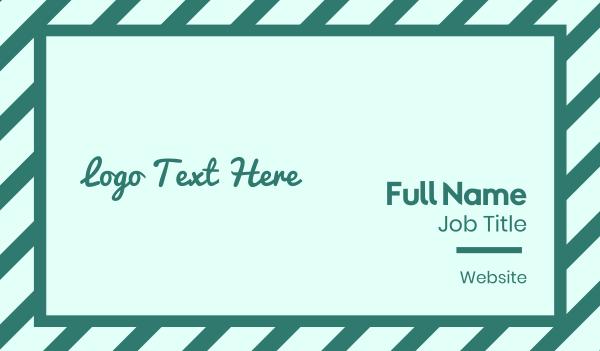 twitter - Fresh Green Text Font Business card horizontal design