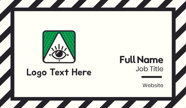 eyelashes - Triangle & Eye Business card horizontal design