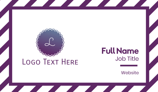 classy - Gradient Purple Circle Business card horizontal design