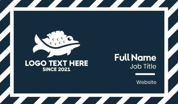 swim - Wild Fish Business card horizontal design