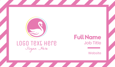 Pink Swan Business Card