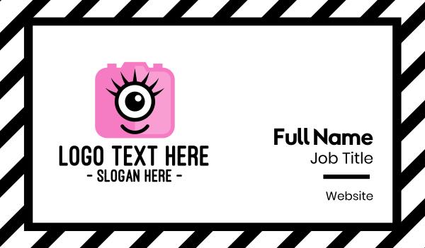 cyclops - Pink Monster Photography Business card horizontal design