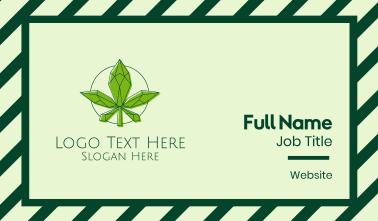 Minimalist Marijuana Leaf  Business Card