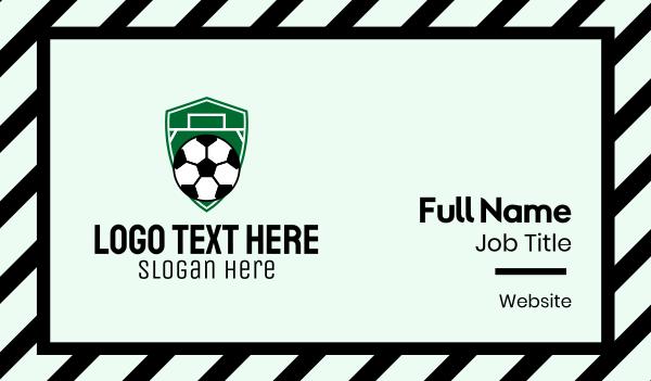 soccer championship - Soccer Ball Field Emblem  Business card horizontal design