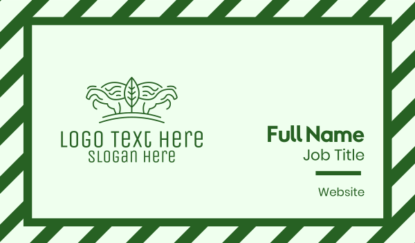 steed - Green Horse Farming  Business card horizontal design