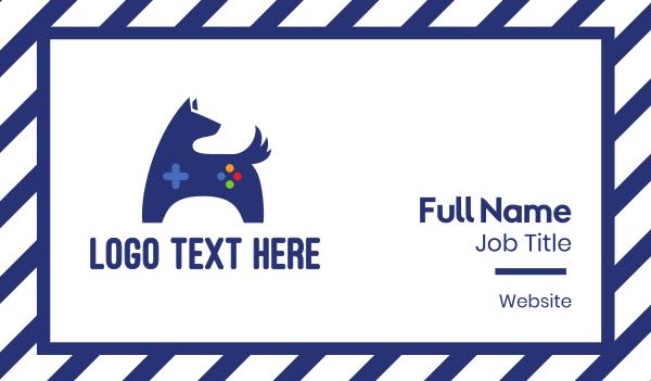 blue dog - Blue Dog Gaming Business card horizontal design