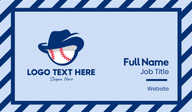 Baseball Cowboy  Business Card