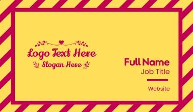 Ornamental Valentine's Text Business Card
