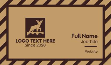 Brown Forest Deer Business Card