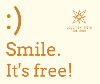 Smile, it's free Facebook post