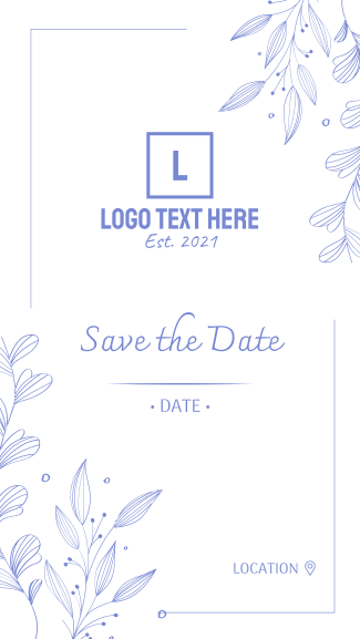Save the Date Ornamental Plant Facebook story