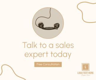 Talk To A Sales Expert Facebook post