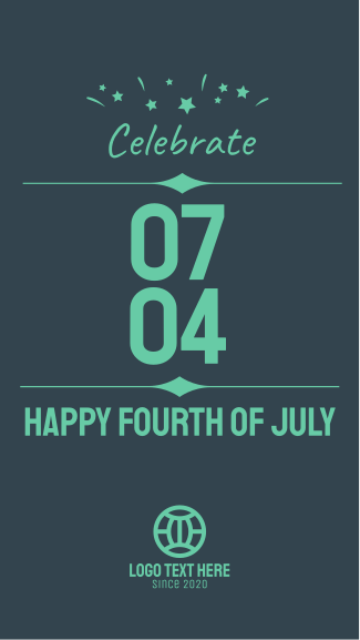 Celebrate Fourth of July Facebook story