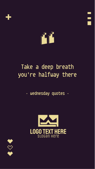 Wednesday Pixel Quote Facebook story