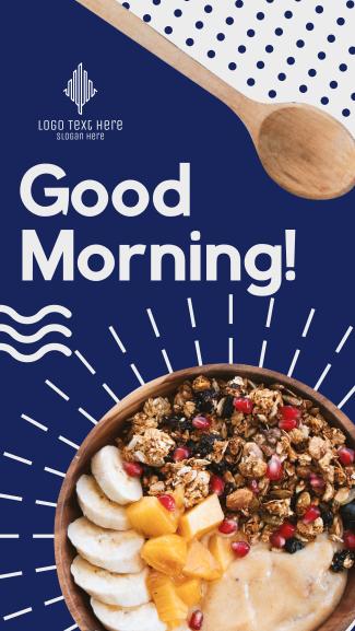 Healthy Food Breakfast Facebook story
