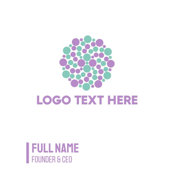 Dots Circle Business Card