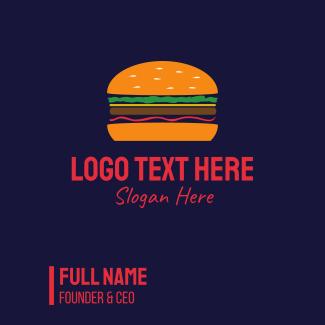 Bacon Hamburger Burger Business Card