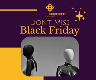 Don't Miss Black Friday Sale Facebook post