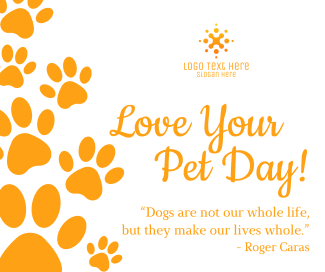 Love Your Pet Day Facebook post