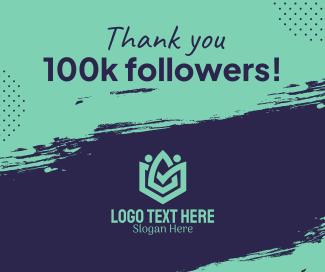 100k Followers Facebook post