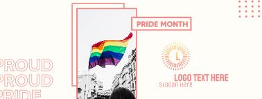 Pride Month Flag Facebook cover