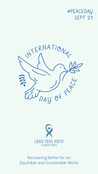 Peace Dove Outline Facebook story