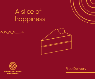 A slice of happiness Facebook post