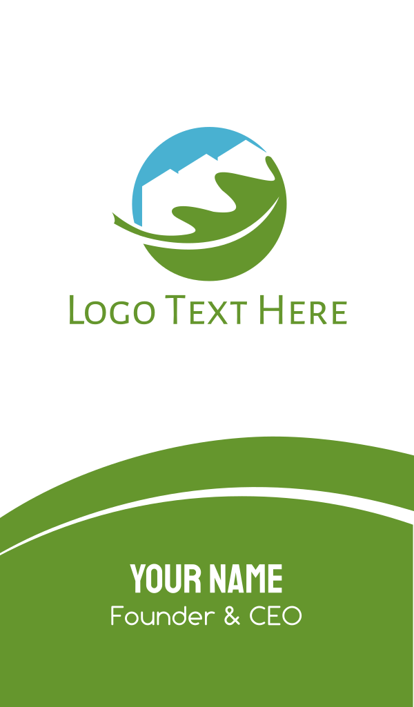 Eco Town Business Card