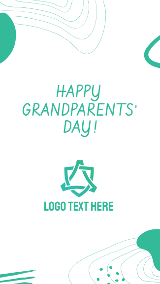 Happy Grandparents' Day Abstract Facebook story