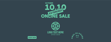 Extended Online Sale 10.10  Facebook cover