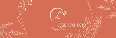 Leaves Ornamental Frame Twitter header (cover)