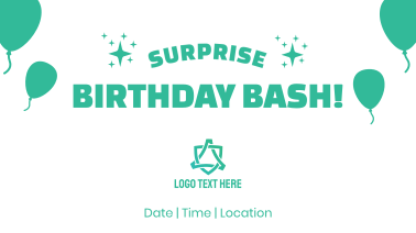 Surprise Birthday Bash Facebook event cover