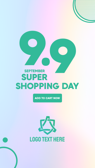9.9 Shopping Day Facebook story