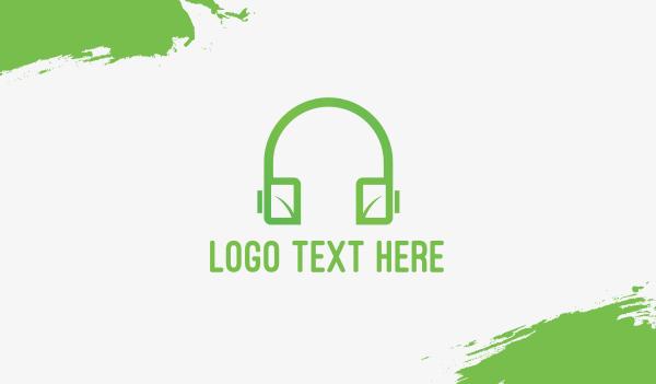 lecture - Eco Headphones Business card horizontal design