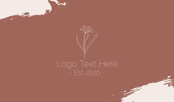 delicate - Minimalist Beauty Flower Business card horizontal design