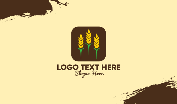 granary - Corn Grain Mobile App Business card horizontal design