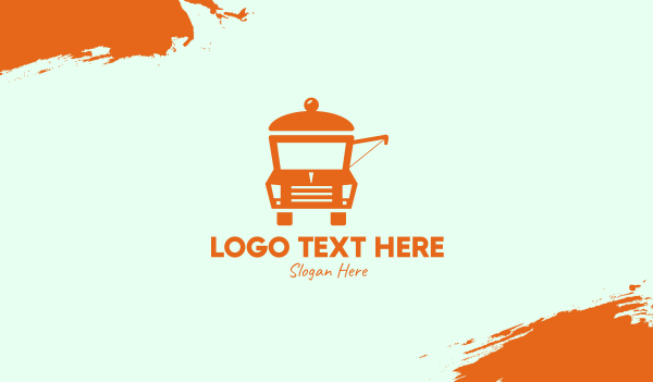 food service - Food Stall Truck  Business card horizontal design