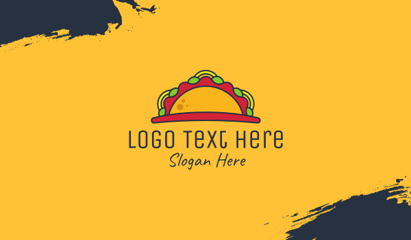 taqueria - Taco Mexican Restaurant Business card horizontal design