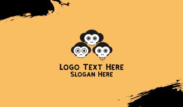 Funny Monkeys Business Card
