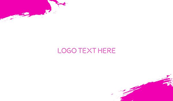 hot pink - Pink & Neon Business card horizontal design