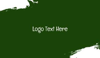 School Wordmark Chalkboard Font Business Card