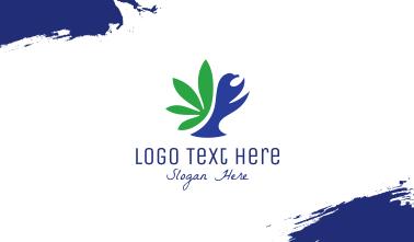 Dove Cannabis Leaf  Business Card
