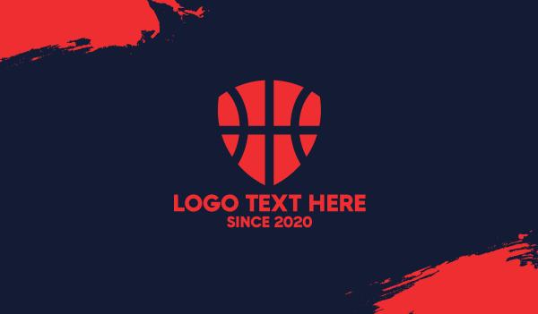 basketball equipment - Basketball Shield Business card horizontal design
