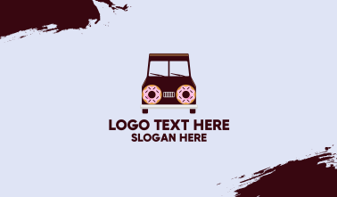Doughnut Van Delivery Business Card