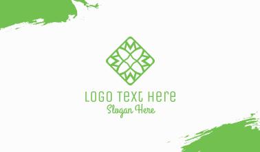 Green Flower Tile Business Card